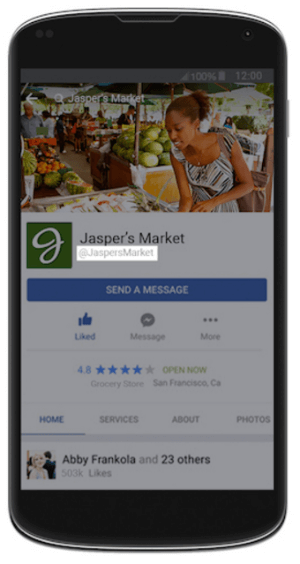 facebook messenger username