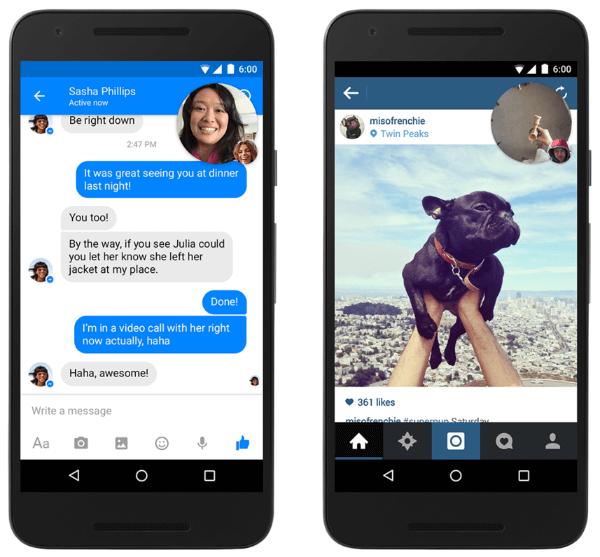 facebook messenger video chat heads