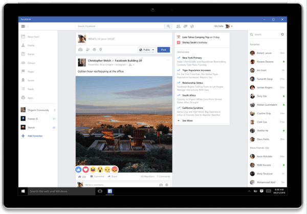 facebook windows 10 app
