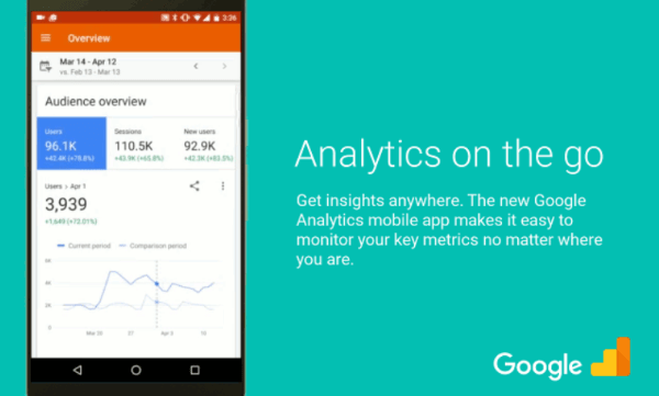 google analytics app redesign