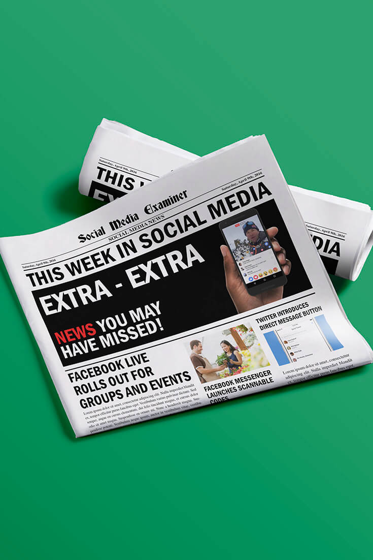 social media examiner weekly news april 9 2016