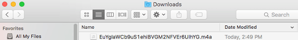 anchor wave file showing in downloads