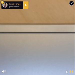 blab guest mute and close screen controls