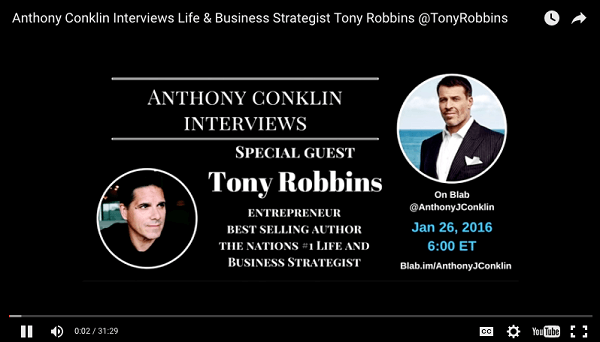 anthony conklin interviews tony robbins blab uploaded to youtube