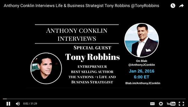 anthony conklin interviews tony robbins blab uploaded to youtube