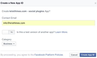 configure facebook app