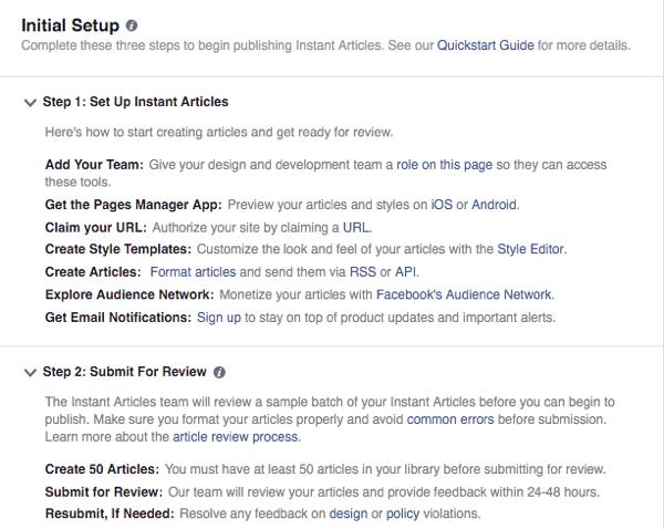 facebook instant articles setup guide