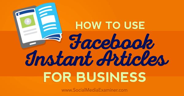 publish facebook instant articles