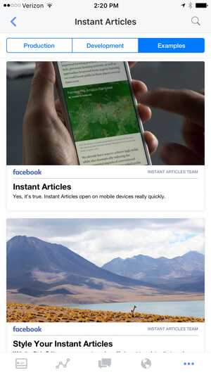 view sample facebook instant articles