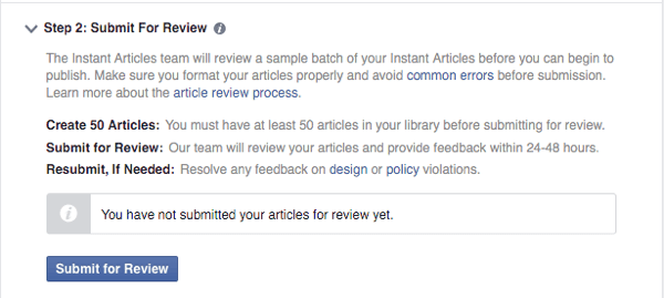 submit facebook instant articles for review