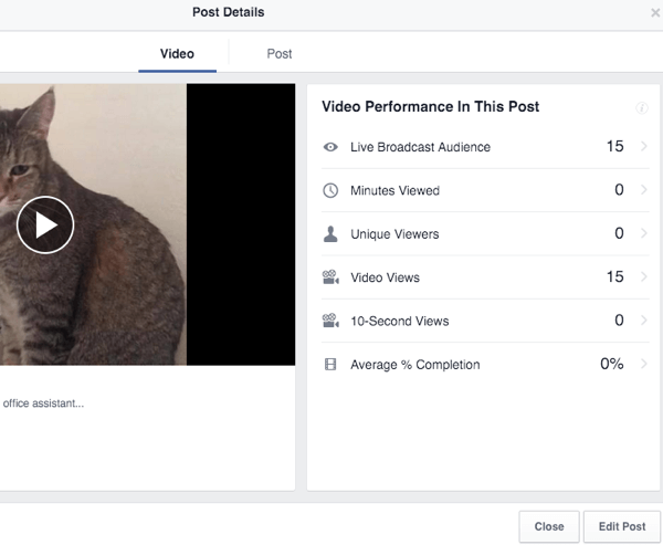 facebook live video insights