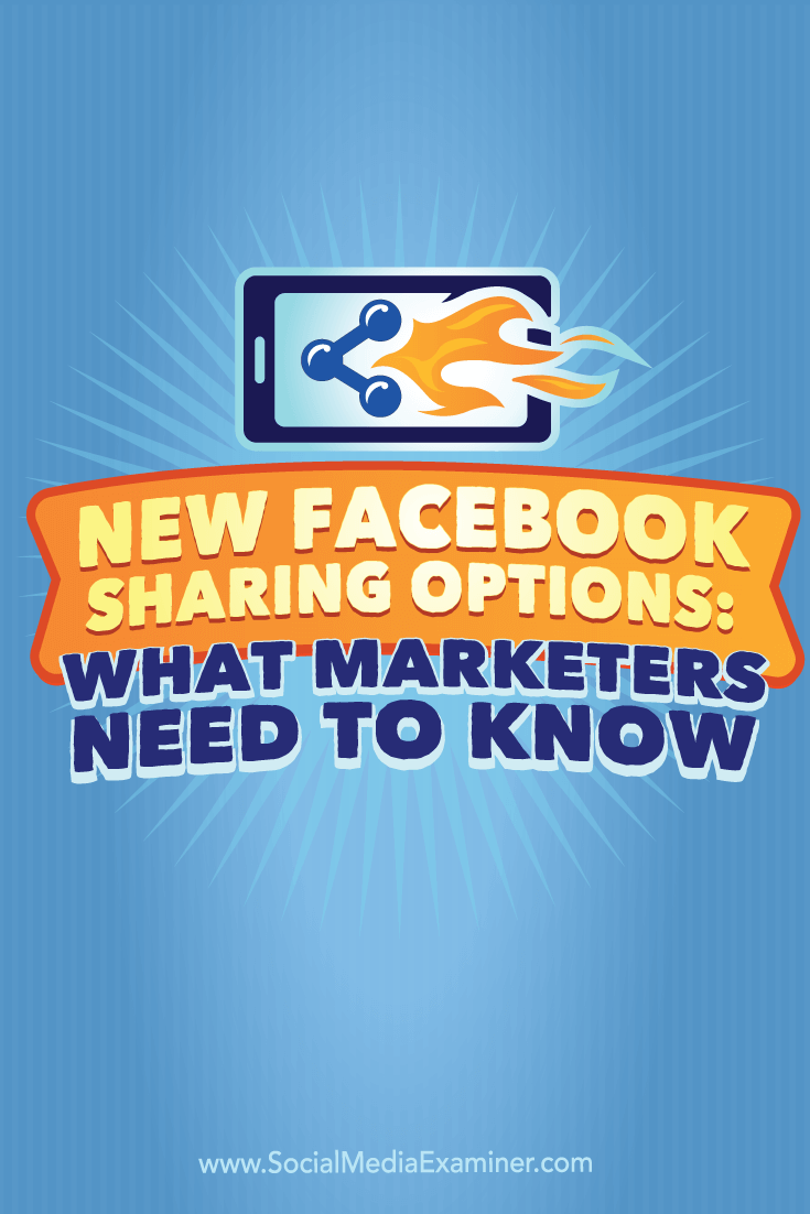 use facebook sharing options to increase engagement