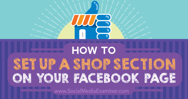 add shop section to facebook page