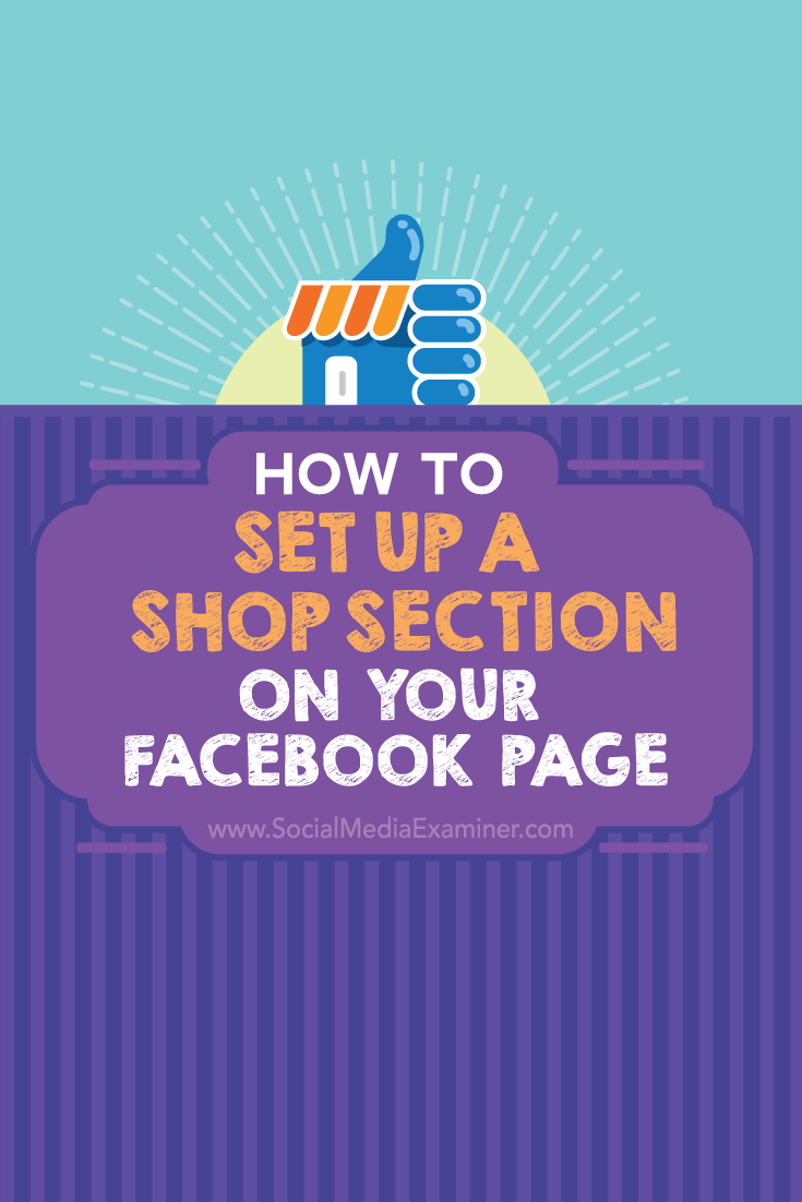 facebook page shop section set up