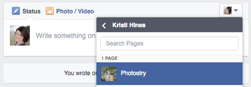 select page in facebook business manager