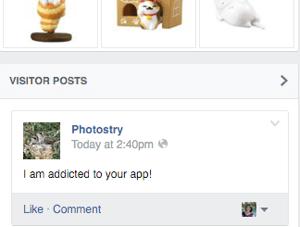 facebook post successful notification