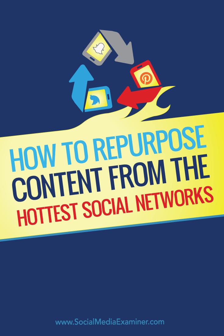 reuse new social platform content on other channels