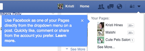 facebook page no longer available notification