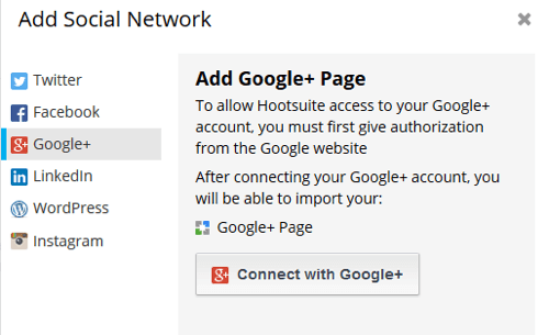 hootsuite add network