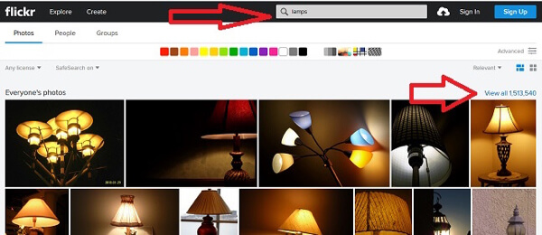 flickr keyword search
