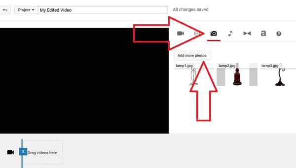 add images in youtube creator studio