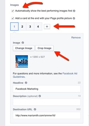 create facebook carousel ad