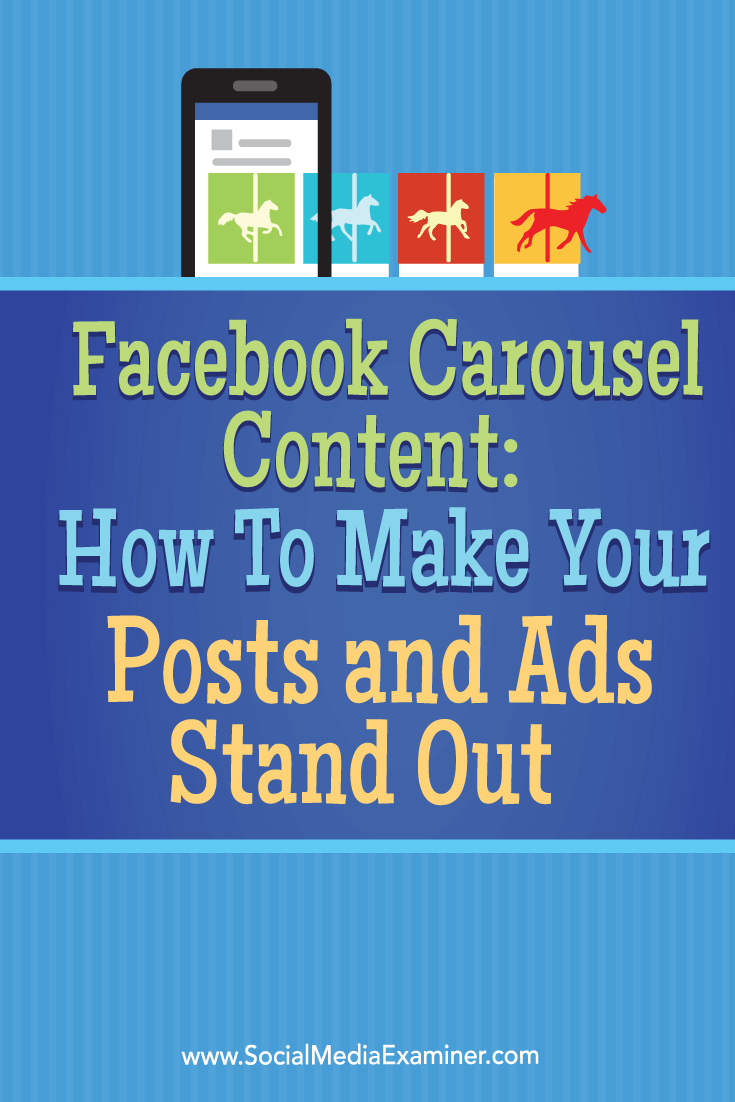 create and use facebook carousel ads and posts