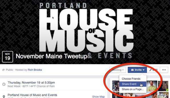 promote facebook event sample