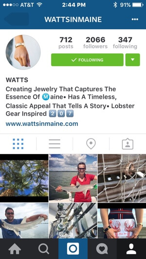 instagram profile branding example