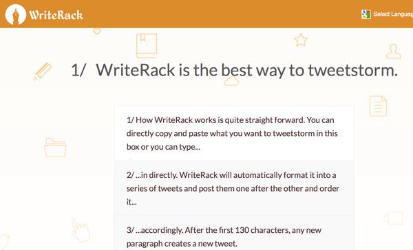 write rack