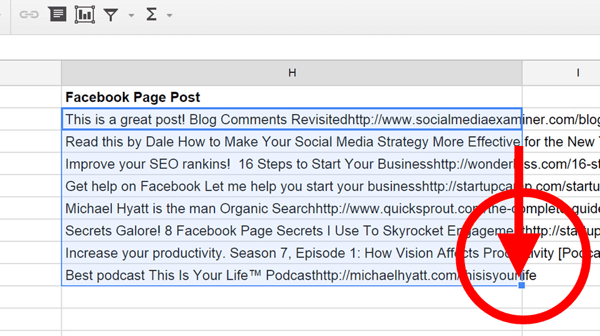 google docs content to schedule