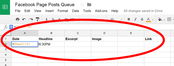 google docs titles and formula