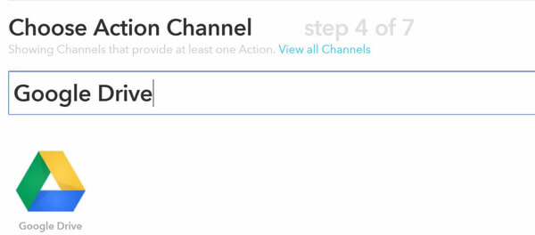 ifttt choose action channel