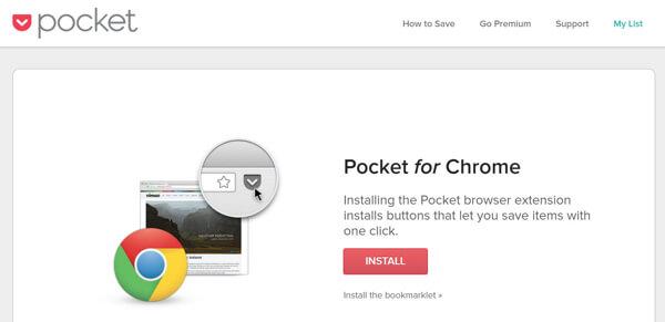 install pocket extension