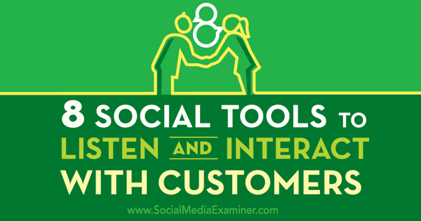 social customer service tools