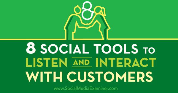 social customer service tools