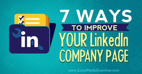 improve linkedin company page