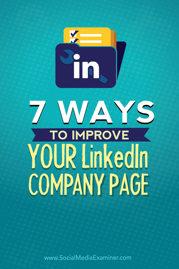 linkedin company page optimization
