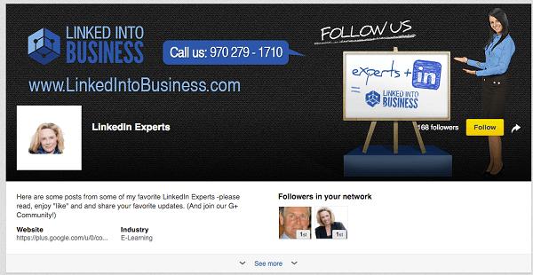 linkedin expert showcase page