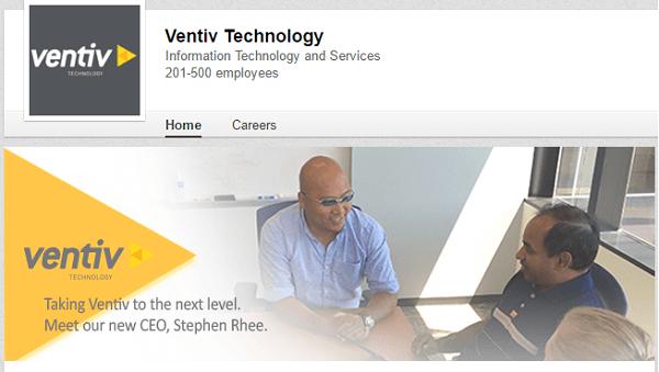 ventiv linkedin company page banner image