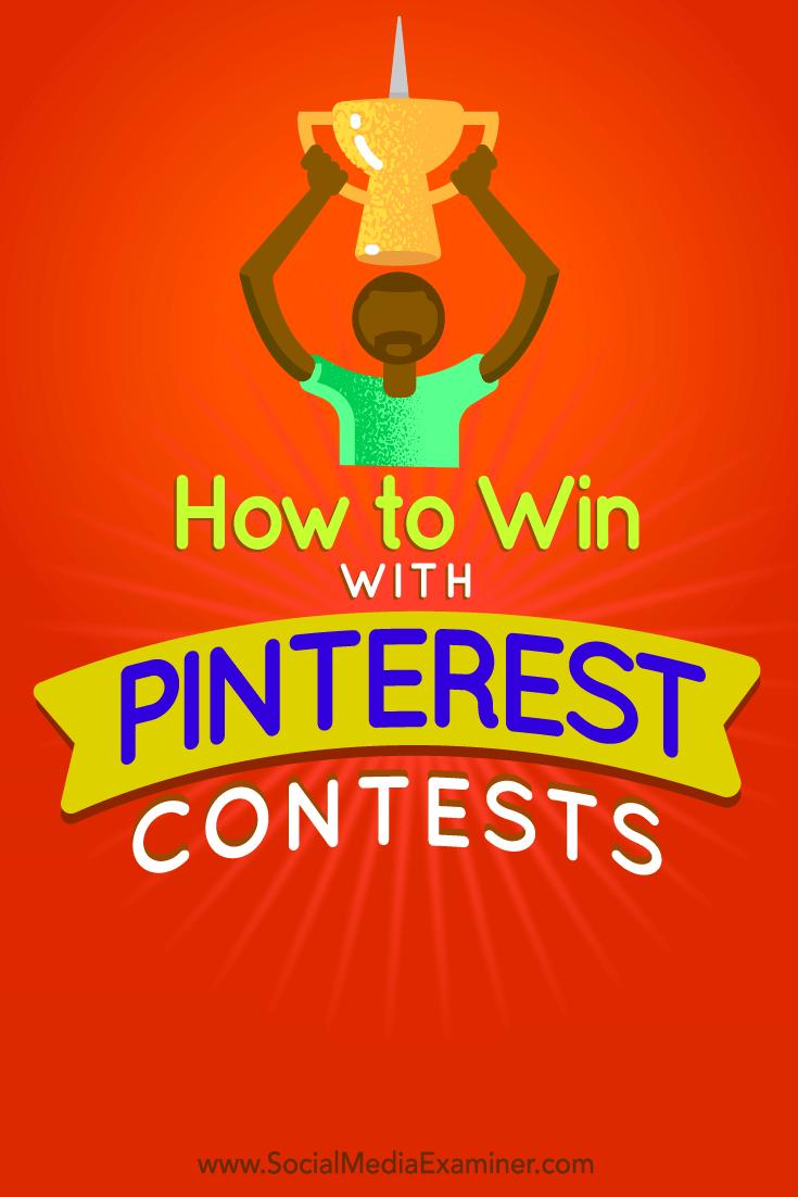 Tipps, wie Sie auf Pinterest ganz einfach einen erfolgreichen Wettbewerb veranstalten können.
