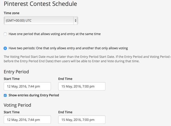 wishpond contest schedule