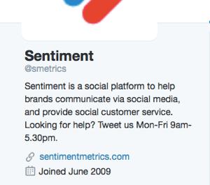 customer service hours in twitter bio