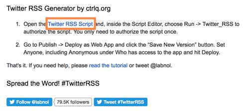 twitter rss generator script