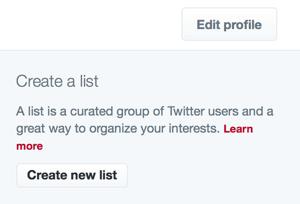 create twitter list