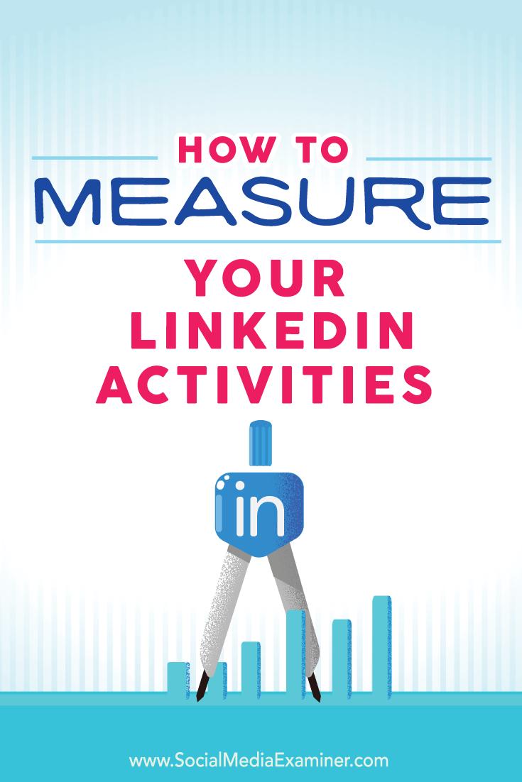 Linkedin Marketing messen und verfolgen
