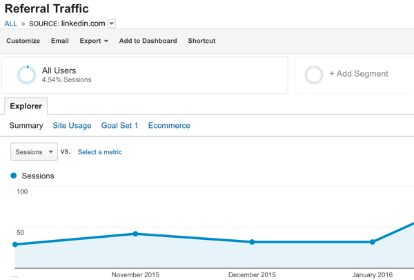 track referral traffic in google analytics