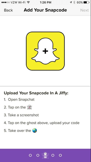 how to add snapcode selfie