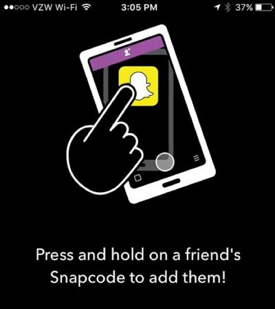 Snapchat per Snapcode hinzufügen