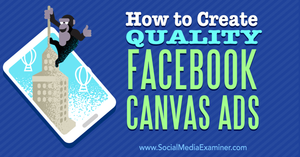 create canvas ads on facebook